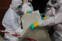 asbestos being handled safely by workers