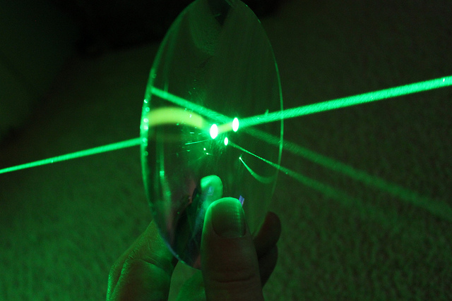 close up of the power of lasers in workplace for hazards of lasers article
